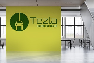 Thumbnail for Tezla : Negative Space Green Energy Logo