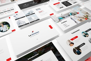 Thumbnail for La Estate Real Estate Keynote Template