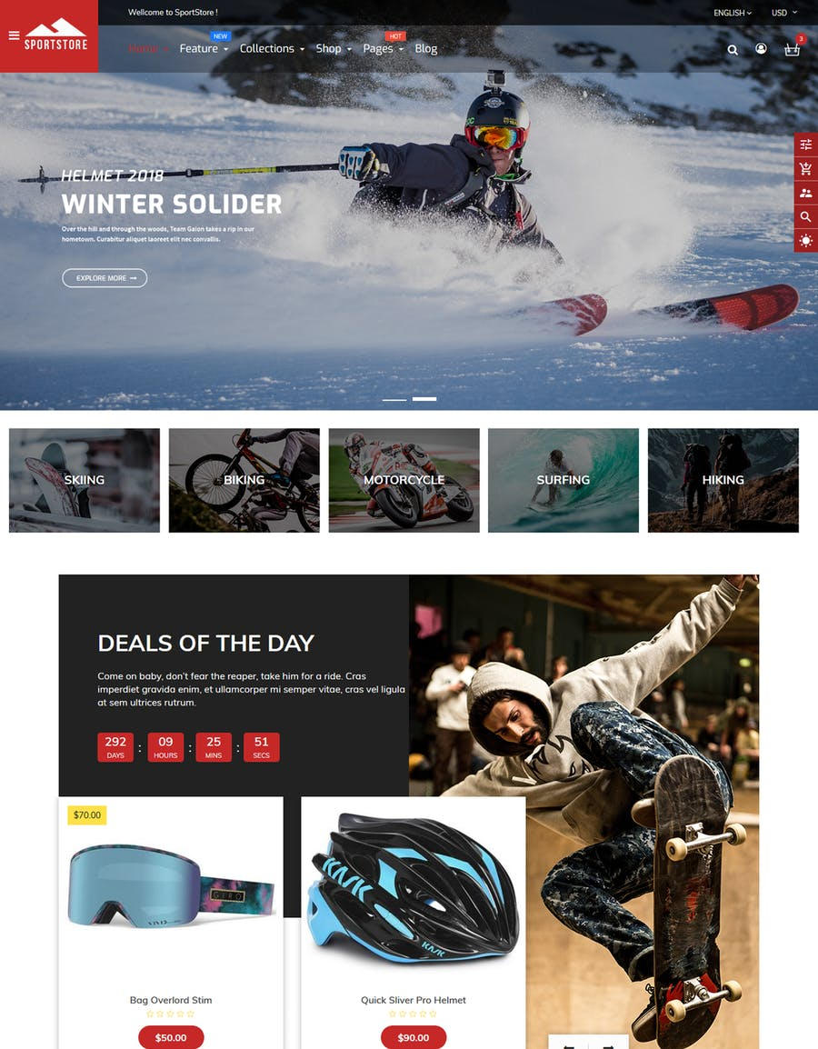 SportStore - Multipurpose Sections Shopify Theme - product preview 3