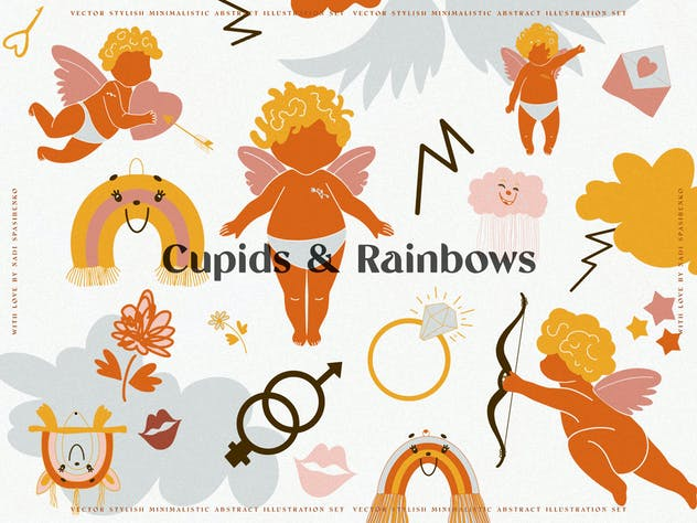 Cupids & Cute Rainbows - product preview 1