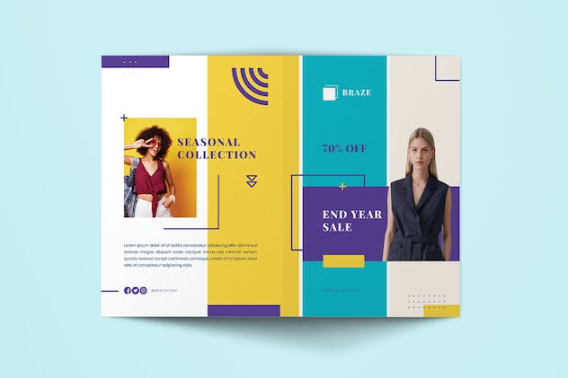 Fashion Sale BiFold Brochure - product preview 1
