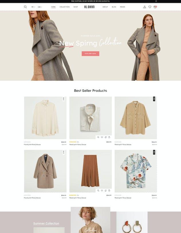 Alohan | Minimalist Fashion PSD Template - product preview 12