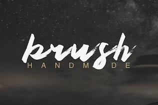 Thumbnail for Authen Brush Font
