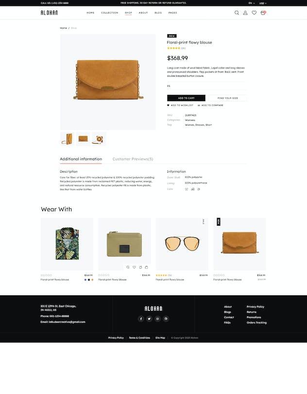 Alohan | Minimalist Fashion PSD Template - product preview 5