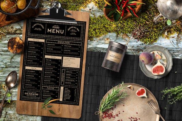 Vintage Food Menu - product preview 1