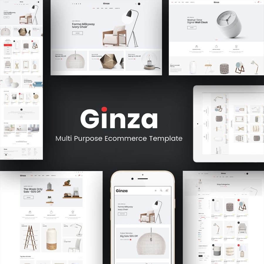 Ginza - Responsive Prestashop Theme - product preview 1