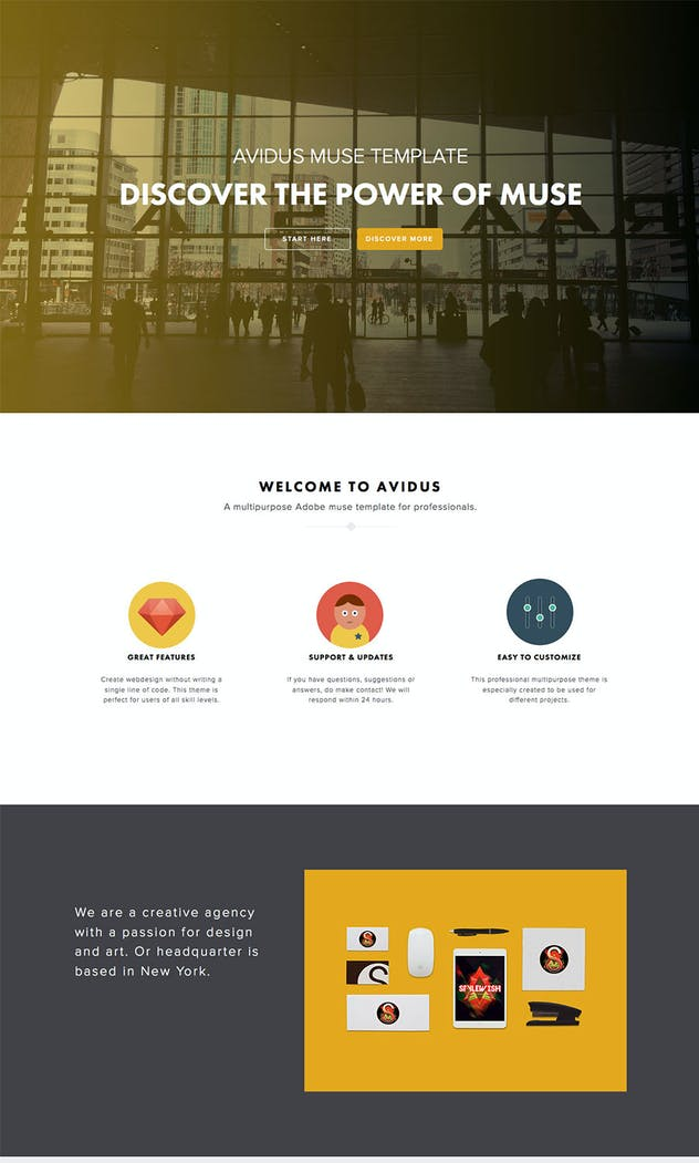 Avidus - Multipurpose Muse Template for Creatives - product preview 4