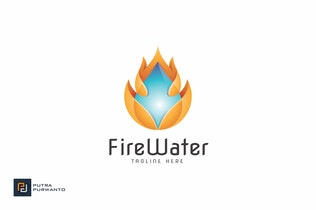 Thumbnail for Fire Water - Logo Template