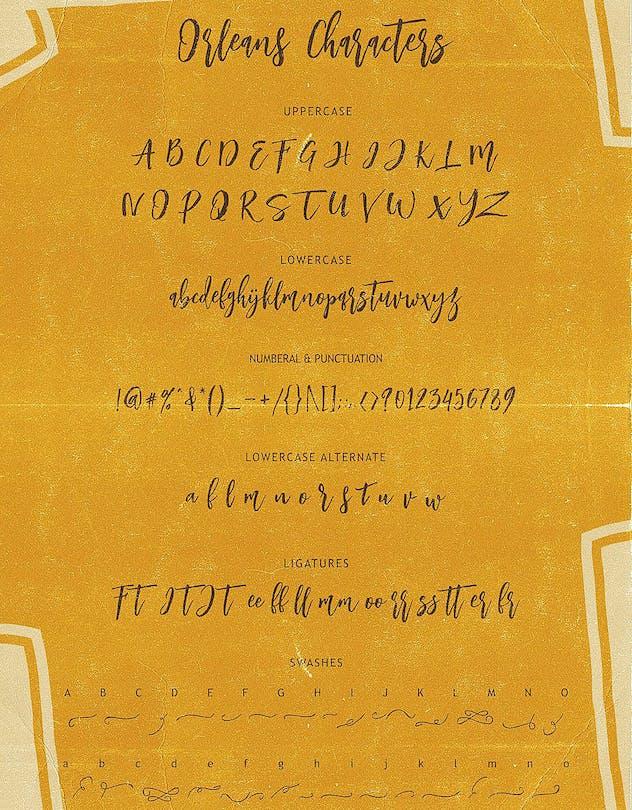 Orleans Script Font Duo