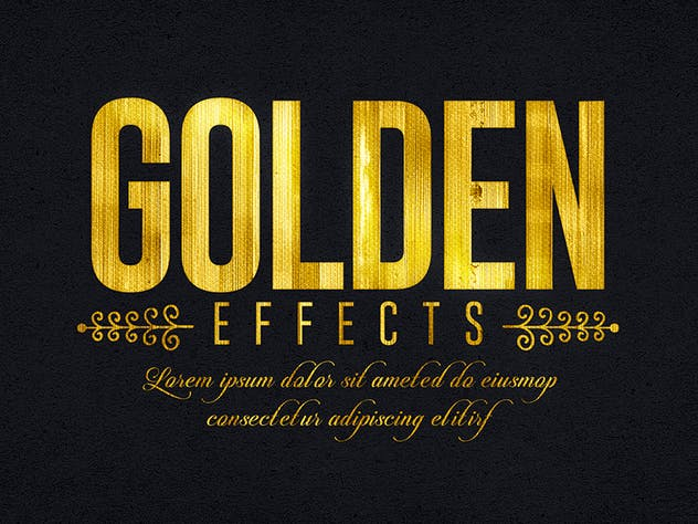 Gold Text Effects 1 - product preview 5