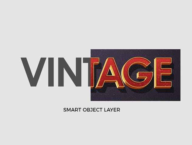 Vintage Retro Text Effects - product preview 1