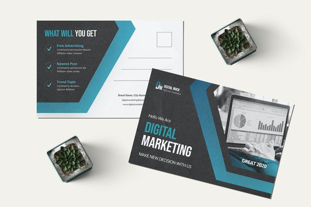 Digital Marketing Postcard - product preview 2