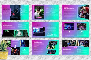 Thumbnail for Exsavior - Gaming PowerPoint Template