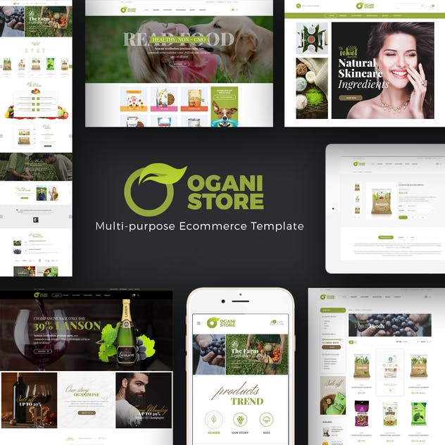 Ogani - Organic, Food, Pet, Alcohol Prestashop - product preview 1