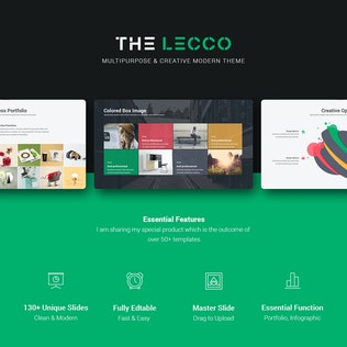 Thumbnail for Lecco Creative Keynote Template