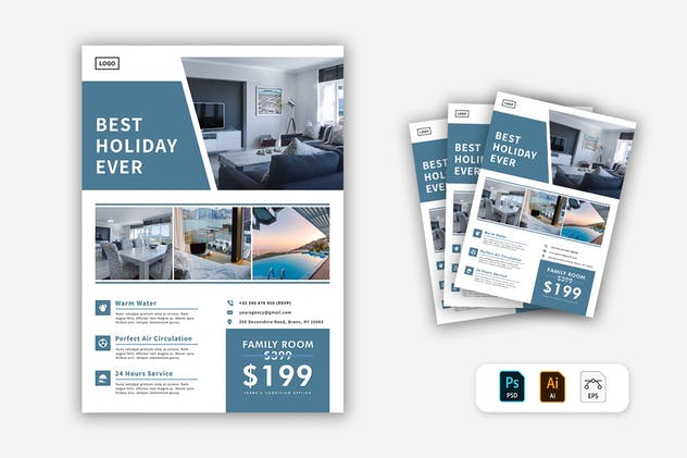 Hotel Flyer - product preview 1