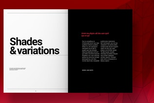 Thumbnail for Red Brand Guidelines Layout