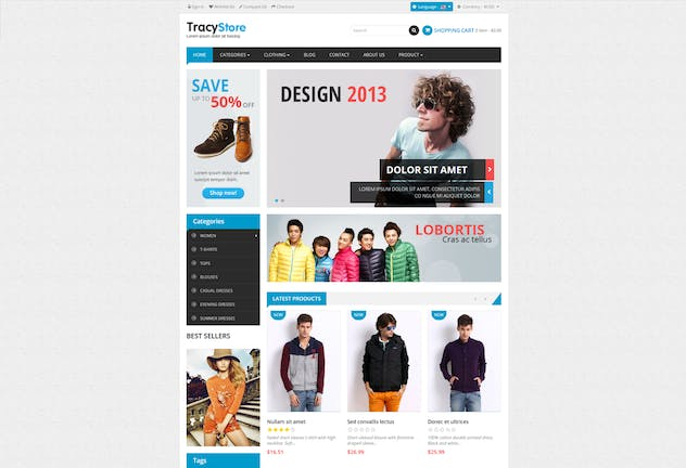 Leo Tracy Minimal Fashion Prestashop Theme