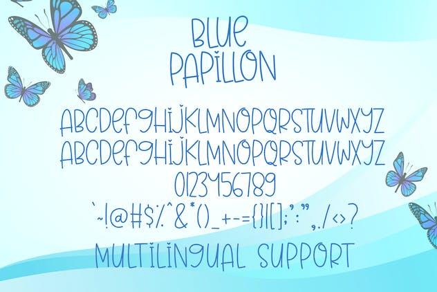 Blue Papillon - Cute Handwritten Font