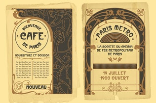 Vintage Art Nouveau Style Design Templates