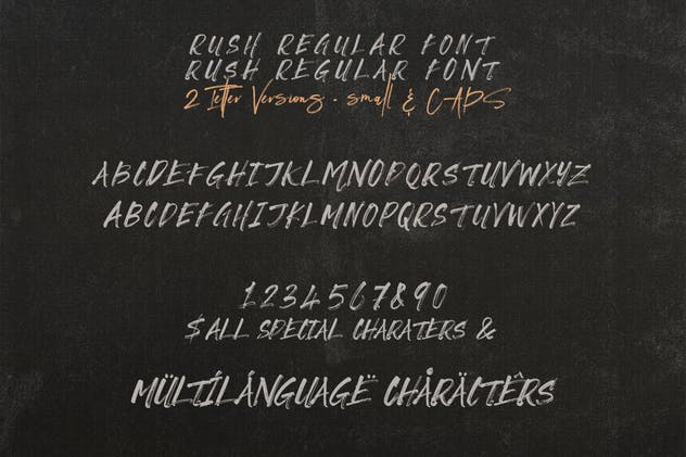 Rush Brush & SVG Font - product preview 4