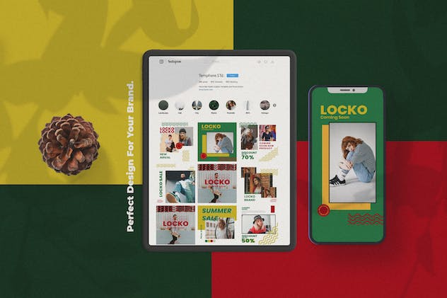 Locko Social Media Template - product preview 3