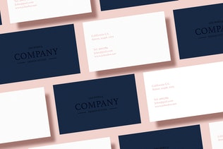 Thumbnail for 5 Business Card Mock Up Pack Vol 01