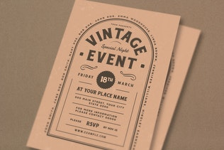 Thumbnail for Vintage Event Flyer
