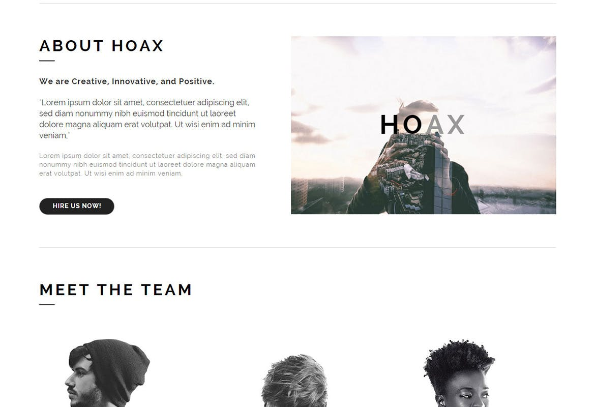 HOAX - Creative Multipurpose Muse Templates YR