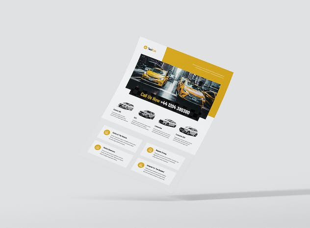 Taxi Cab – Brochures Bundle Print Templates 5 in 1 - product preview 2