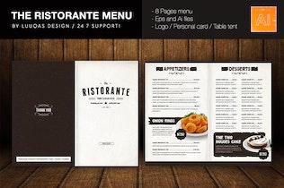 Thumbnail for The Ristorante Food Menu Illustrator Template
