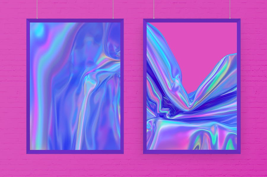 Iridescent Abstract Backgrounds  - V2 - product preview 3