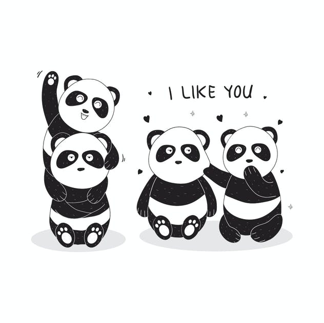 cute panda illustration - product preview 1