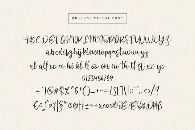 Brasons Risool Modern Script Font