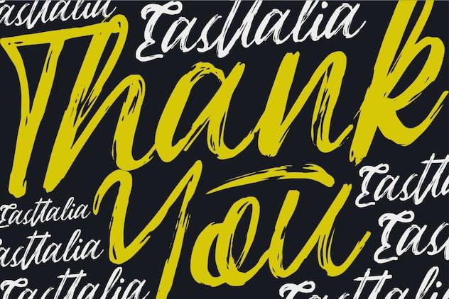 Eastallia | Hanbrush Script