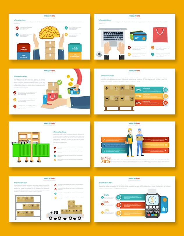 Logistic Infographic Powerpoint - product preview 5