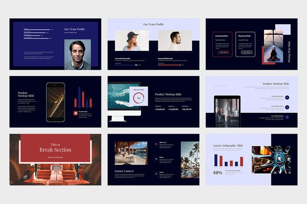 Evoza : Luxury Lifestyle Powerpoint - product preview 2