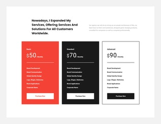 Thumbnail for inspire UI Kit - Pricing PSD Web Sections