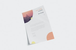 Thumbnail for 5 A4 Size Paper Mockups