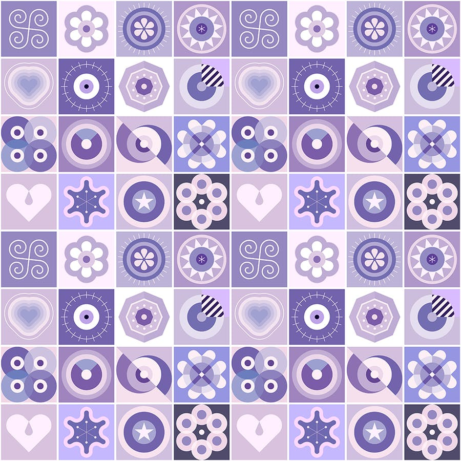 2 Options of a Seamless Patterns Vector Background - product preview 2