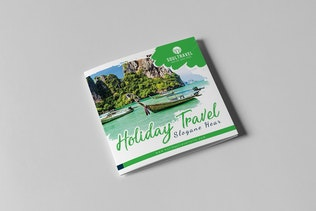 Thumbnail for Travel Square Trifold Brochure