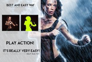 Thumbnail for Rain Photoshop Action