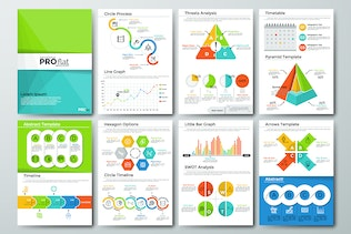 Thumbnail for Pro Flat Infographic Brochure 11