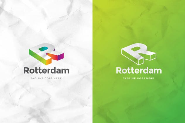Rotterdam Letter R Logo Template