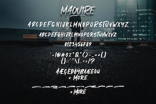 Thumbnail for Maquire Brush Font