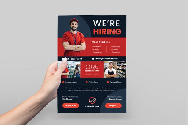 Sales Job Hiring Flyer Advertisement - product preview 1