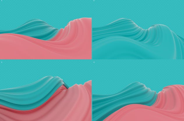 Abstract 3D Wavy Striped Backgrounds - product preview 6