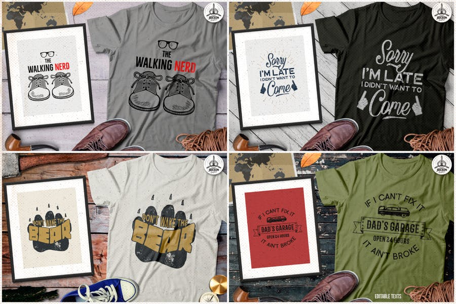 T-Shirt Designs Retro Collection. Part 4 - product preview 3