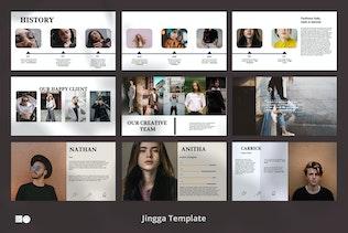 Миниатюра для Jingga - Шаблон Powerpoint
