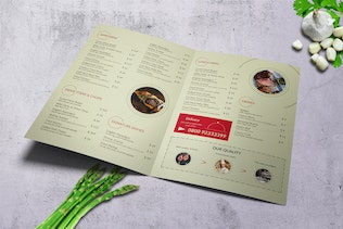 Thumbnail for Meat Atelier Bifold A4 & US Letter Food Menu